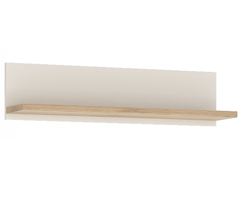 4KIDS Wooden Wall Shelf in Light Oak & White High Gloss - 2 Sizes