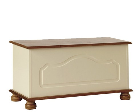 Copenhagen Wooden Blanket Box in Cream/Pine