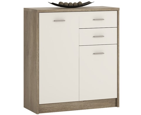 4 You Wooden 2 Door 2 Drawer Cupboard - 3 Colours