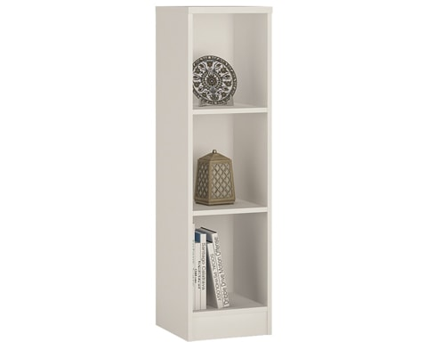 4 You Medium Narrow Bookcase with 3 Shelves - 2 Colours