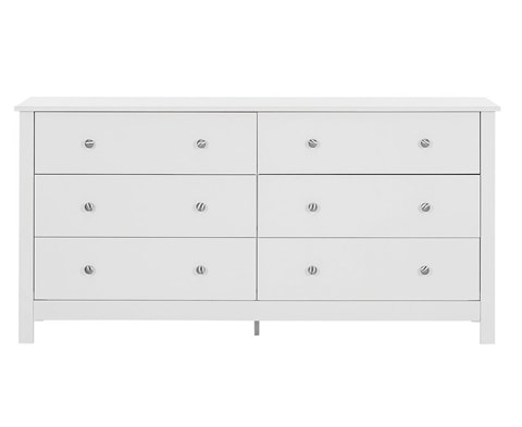 Florence Wooden 3+3 Drawer Chest - 3 Colours
