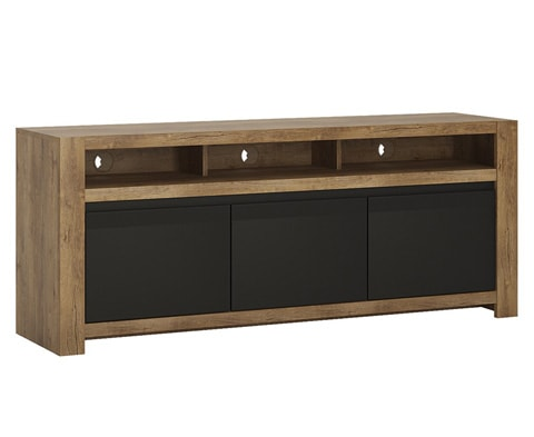 Modern Havana Wide 2 Door 1 Drawer TV Unit in Oak