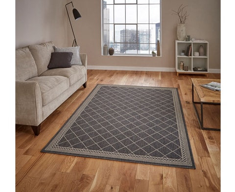 Modern Cottage CT7643 Rug - 4 Colours (Grey / Black / Blue / Natural Brown)