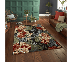 Modern Tropics 6096 Multi Soft Rug - 2 Colours (2 Sizes)