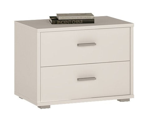 4 You Wooden 2 Drawer Low Bedroom Chest / Bedside Table - 2 Colours