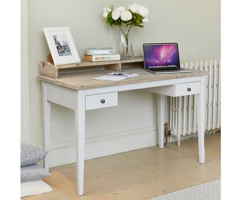 Signature Solid Wood Desk / Dressing Table in Grey