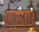 Shiro Solid Walnut Large Sideboard 2 Door 3 Drawer