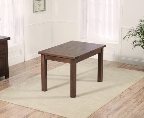 Rustique Dark Extendable Solid Wood Dining Table