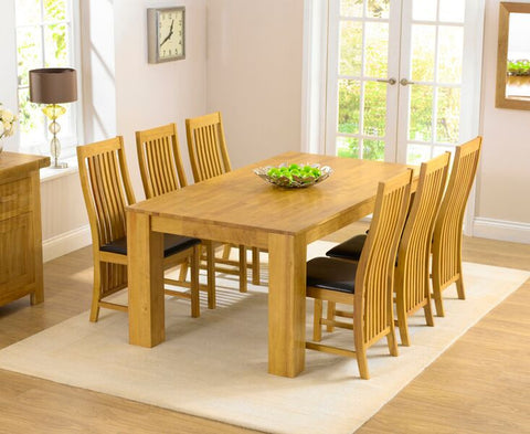Tula 180cm Dining Set 6 Chairs