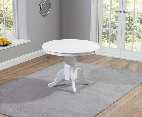 Elstree Solid Hardwood & Painted 100cm Extending Dining Table - White