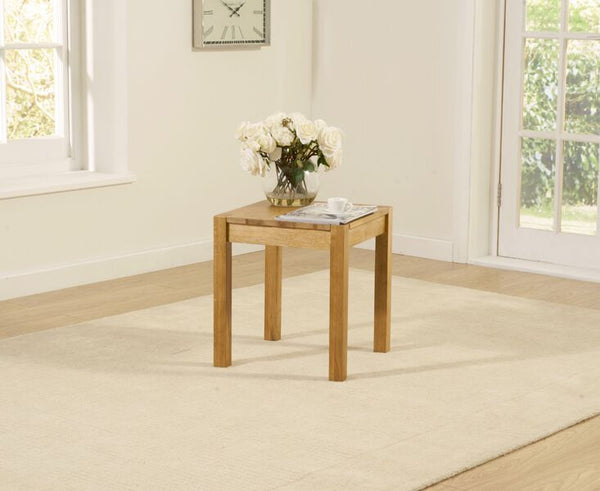 Promo Solid Oak Lamp Table