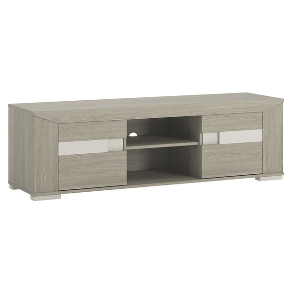 Madras 2 Door TV Unit with Open Shelf in Champagne Melamine