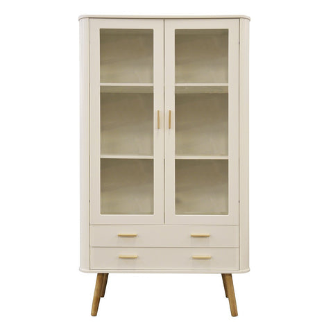 Scandinavian Style Display Cabinet White / Oak
