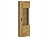 Cortina Tall Glazed Display Cabinet (RH or LH Door) Oak Finish