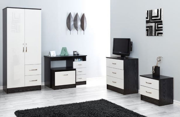 Marina White Gloss & Ash Black 5 Piece Set