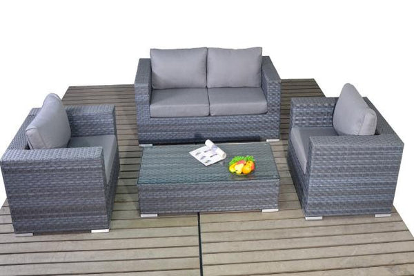 Platinum Small Sofa Set with Coffee Table