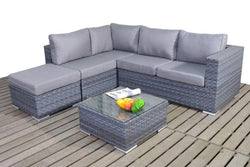 Platinum Small Corner Sofa (L) with Coffee Table