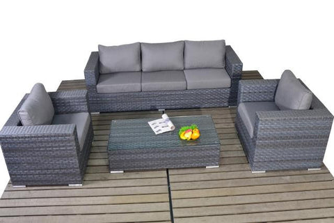 Platinum Large Sofa Set with Coffee Table