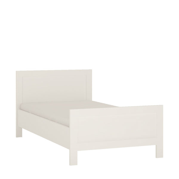 4You Single Bed Frame in Pearl White