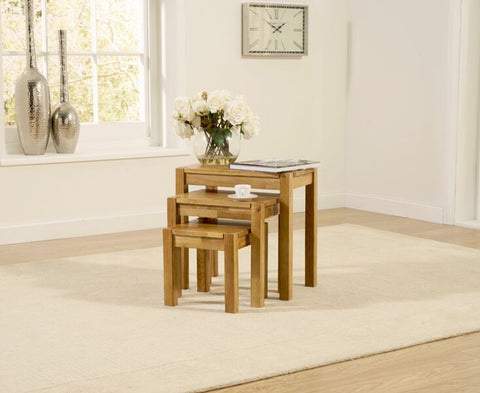 Promo Oak 3 Piece Nest Tables
