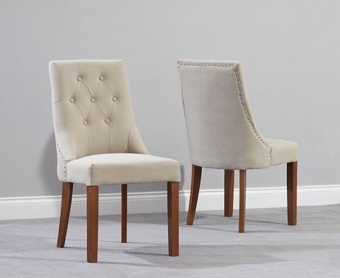 Pailin Dark Wood Dining Chairs (Pair)