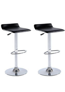 High Bar Stool with gas lift Black (Pairs)