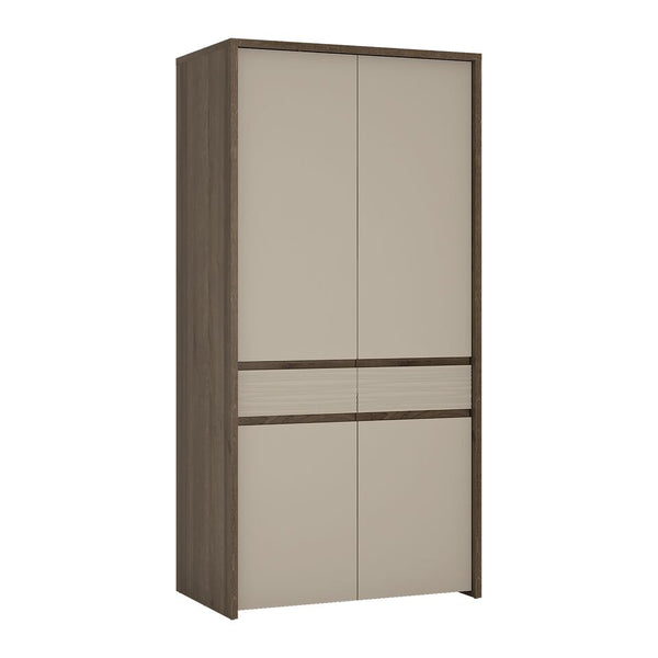Aspen 2 Door Tall Cupboard Wardrobe (Inc LED lighting) in Riviera Oak