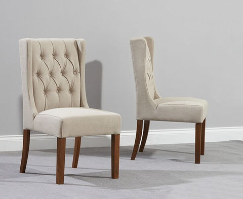 Stefini Dark Wood Dining Chairs (Pair)