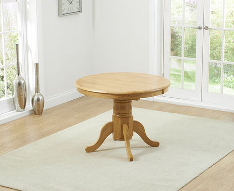 Elstree Solid Hardwood & Painted 100cm Extending Dining Table