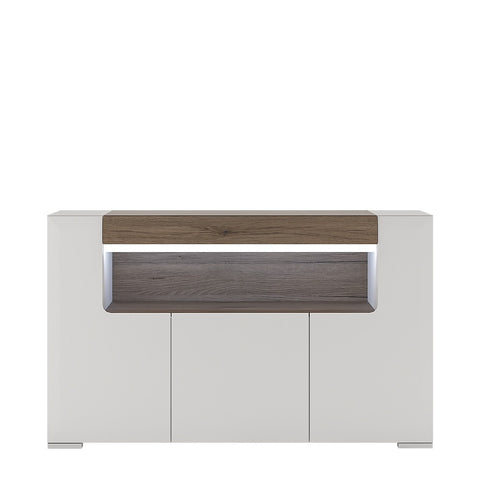 Toronto 3 Door Sideboard with Open Shelving