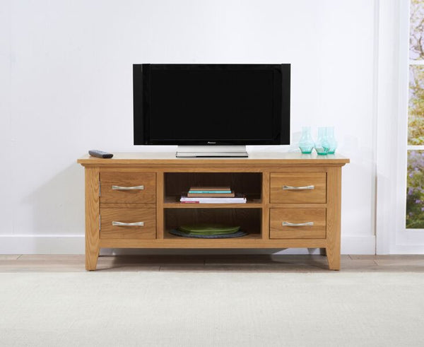 Cambridge 120cm Solid Oak TV Unit