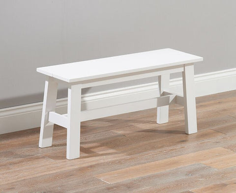 Chichester Solid Hardwood & Painted Small Bench - White