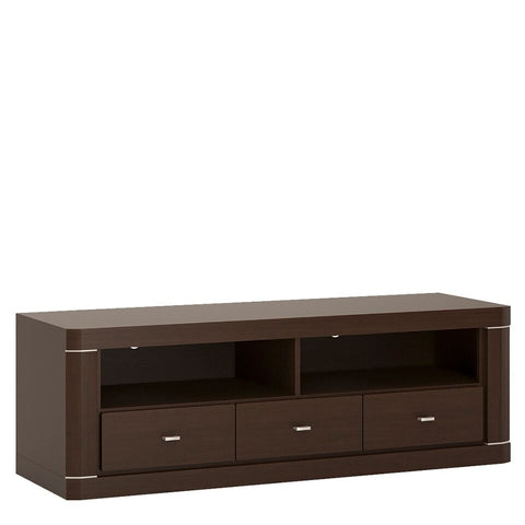 Camden 3 Drawer Wide TV Unit in Dark Wenge