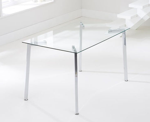 Munich 130cm Glass Dining Table