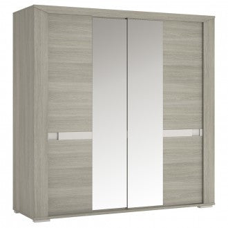 Madras 200 cm Wardrobe with Mirror Sliding Door