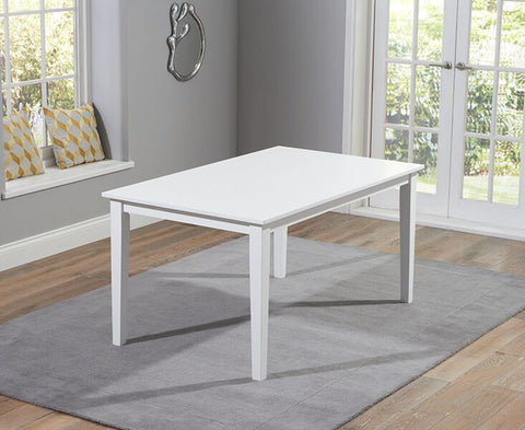 Chichester Solid Hardwood & Painted 150cm Dining Table - White