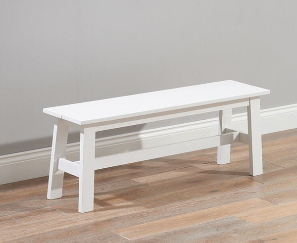 Chichester Solid Hardwood & Painted Large Bench - White