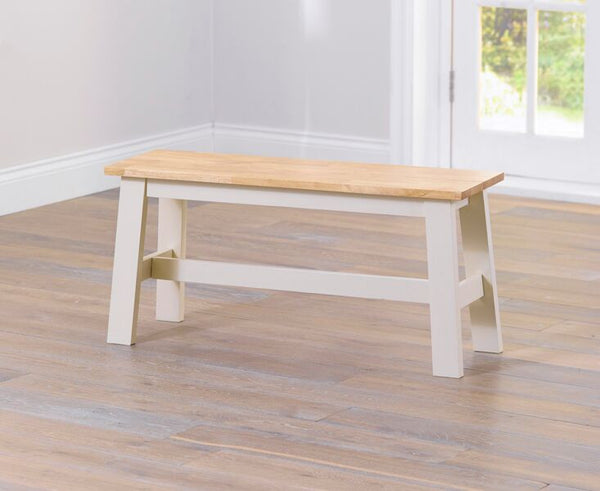 Chichester Solid Hardwood & Painted Small Bench - Cream