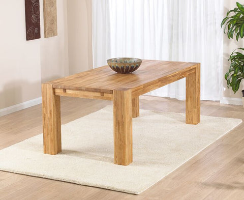 Madrid 200cm Solid Oak Dining Table