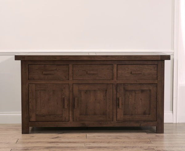 Avignon Dark Large Solid Oak Sideboard