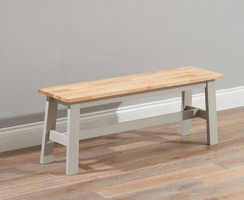 Chichester Solid Hardwood & Painted Large Bench - Grey