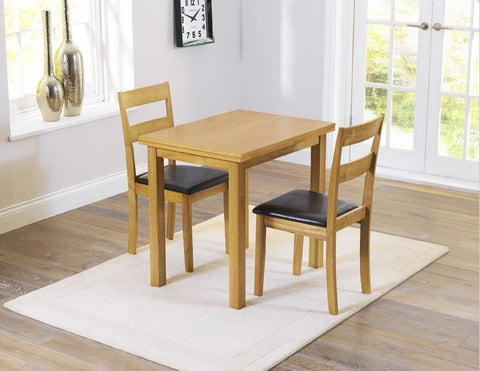 Hove Solid Hardwood Extending Dining Set With 2 / 4 Dining Chairs