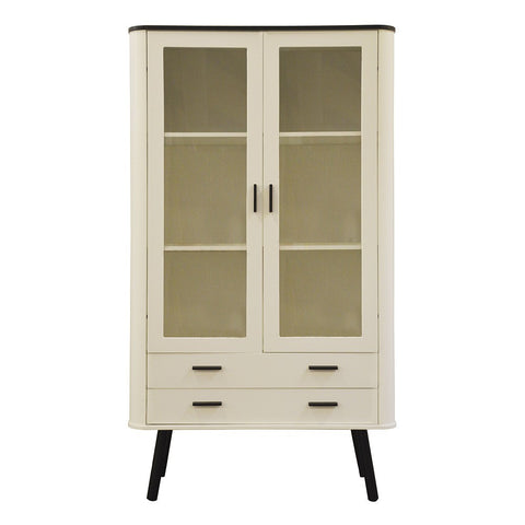 Scandinavian Style Display Cabinet White / Black