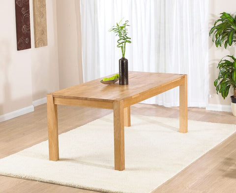 Verona Solid Oak 150cm Extending Dining Table