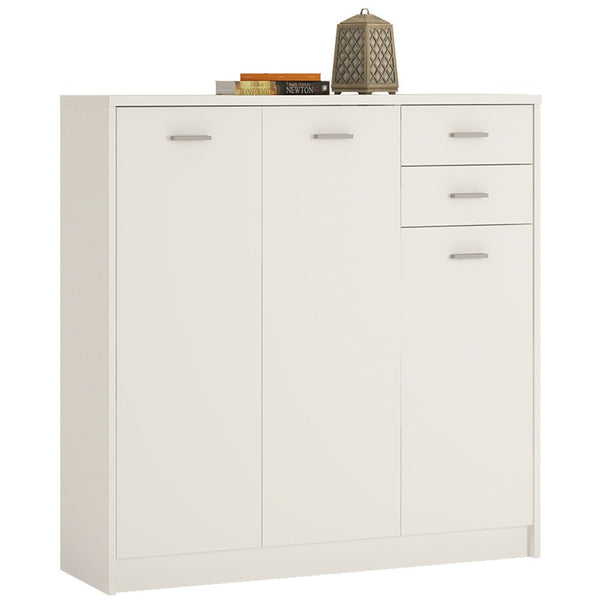 4 You Tall 3 Door 2 Drawer Cupboard - 2 Colours