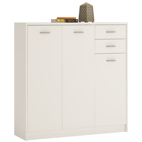 4 You Tall 3 Door 2 Drawer Cupboard (3 Colours)