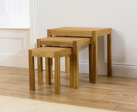 Verona Solid Oak Nest of Tables