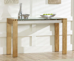 Roma Oak Console Table