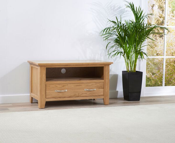 Cambridge 90cm Solid Oak TV Unit