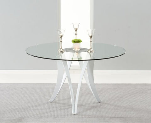 Berlin 130cm Round Glass Dining Table